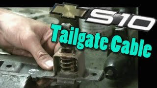 98 Chevy S10 Sonoma Tailgate Cable Replacement