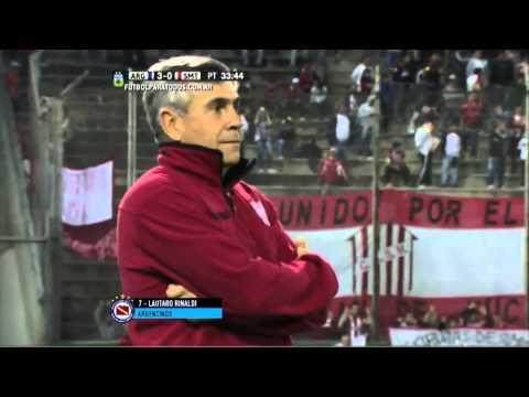 Gol de Rinaldi. Argentinos 3 - San Martín (T) 0. 32avos. Copa Argentina 2015. FPT.