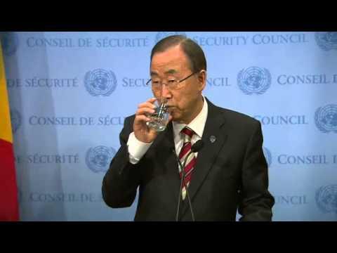 Ban Ki-moon on Ebola - Media Stakeout (22 December 2014)