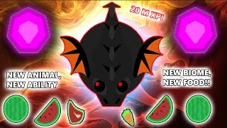 MOPE.IO 20,000,000 M XP, THE BLACK DRAGON!! NEW BIOME, FOOD, ABILITY & ANIMAL UPDATE!!! (Mope.io)