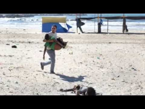 jd meatyard   '4 kids playing on gaza beach'