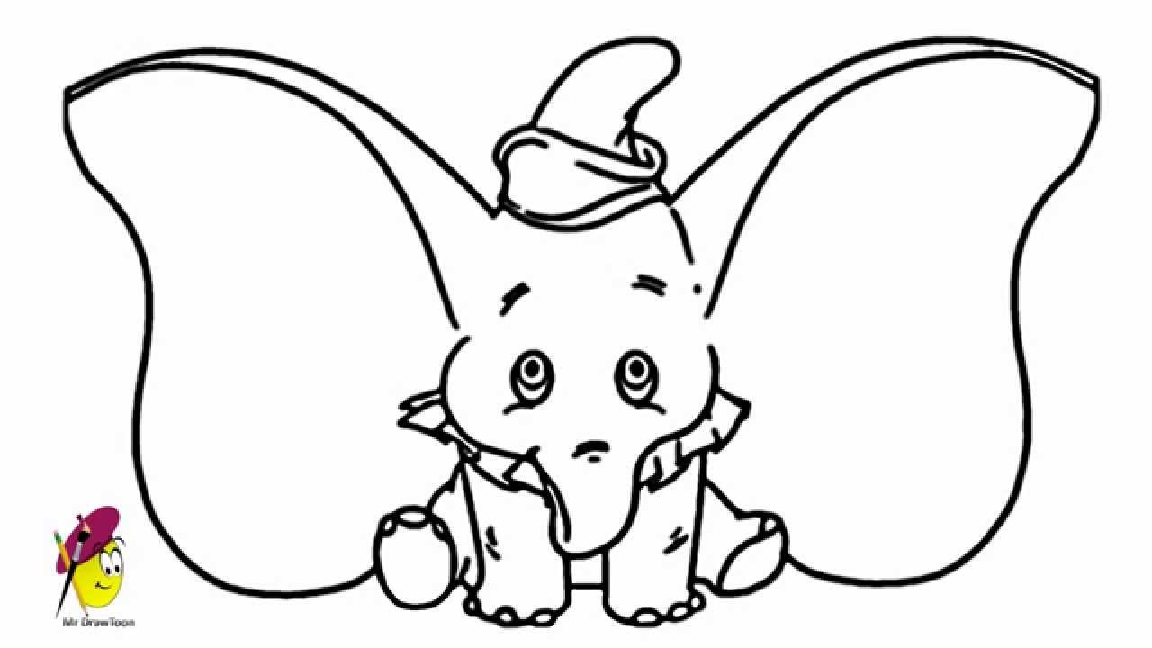 Dumbo Elephant Drawing Dumbo The Elephant Big Ears