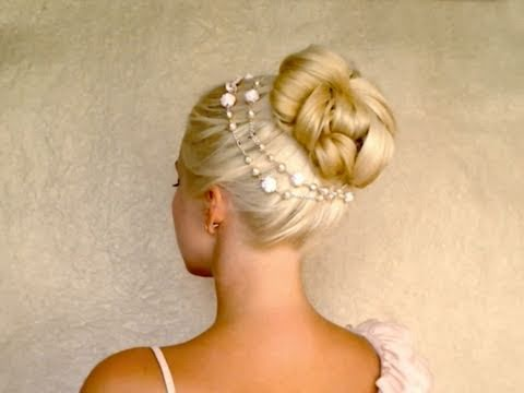 Easy wedding updo hairstyles for long hair tutorial  New Years Christmas holiday bun with extensions