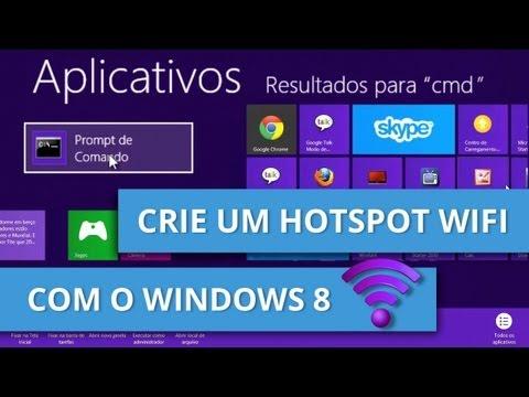 Tutorial: transforme seu computador com Windows 8 em um hotspot WiFi