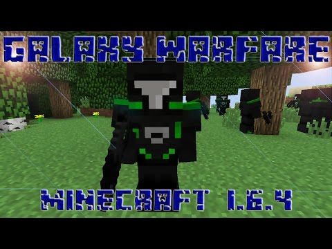 MINECRAFT REVIEW DEL MOD GALAXY WARFARE!!! (RIFLES LASER, ARMADURAS FUTURISTAS)