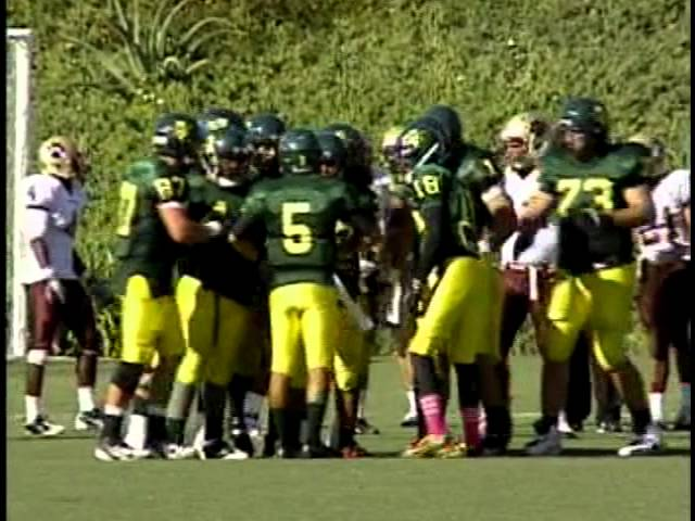Golden West College Football vs San Diego Southwestern Part 2 10-29-11
