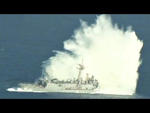 VIDEO : L'USS Thach coulée dans le Pacifique lors de l'exercice RIMPAC 2016