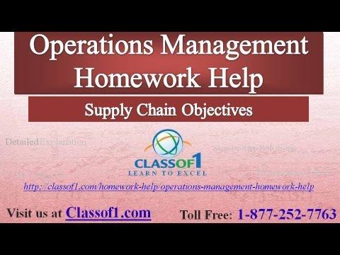 Operations Management > College Homework Help, Exam Prep