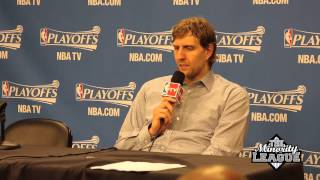 video The Houston Rockets Defeat the Dallas Mavericks at home to go up 3-0 on the series. After the game, Rick Carlisle (Mavs Head Coach) talks about the greatness of Dirk Nowitzki and complains...