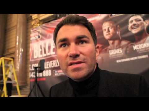 EDDIE HEARN REACTS TO DeGALE / GROVES BACKSTAGE BUST-UP & CLEVERLY v BELLEW WEIGH IN