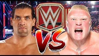 WWE RAW 2K17 - The Great Khali vs Brock Lesnar - WWE Universal Championship Match