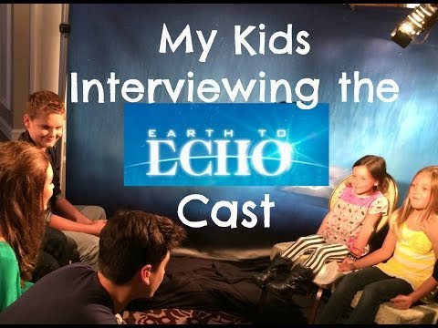 Kids Interview Earth to Echo Cast
