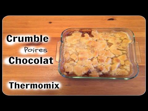 Crumble poires chocolat au thermomix