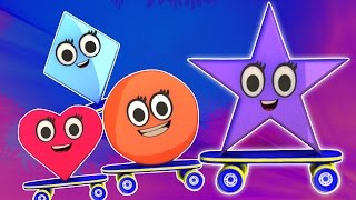 Hình dáng Song | biên soạn cho trẻ em | video giáo dục | Shapes Song