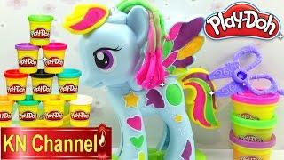Đồ chơi trẻ em Play-doh Bé Na trang điểm Pony bằng đất sét  Rainbow Dash make up Kids toys