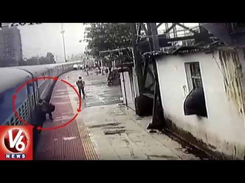Mumbai: RPF Cop Saves Man From Coming Under Train at Panvel Station | V6 News