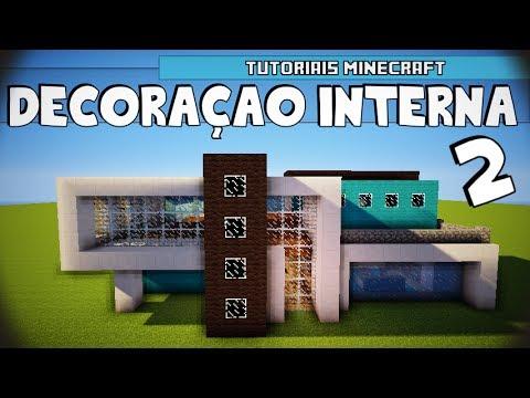 Tutoriais Minecraft: Decoração Interna da Casa Moderna 6 02