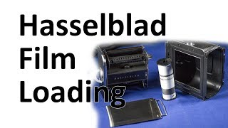 Hasselblad Film Loading, A12 Back, 500 Series Cameras