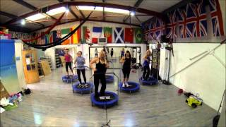 Boogie Bounce Extreme fitness class uk - mini trampoline - rebounder - bouncer - work out