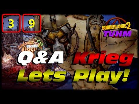 Borderlands 2 Krieg Q&A Lets Play Crossover Ep 39! Wrecking Captain Flynt In True Vault Hunter Mode!