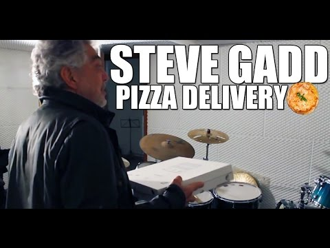 Steve Gadd delivering a special Pizza at The Drum Brother