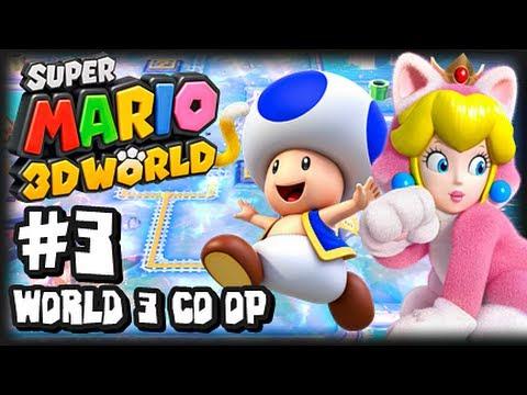 Super Mario 3D World Wii U - (1080p) Co-Op Part 3 - World 3