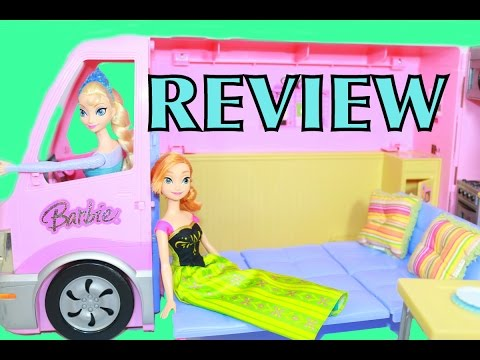 Barbie RV Motorhome FROZEN Elsa Anna Toy Review 2006 Mattel Barbie Party Bus AllToyCollector
