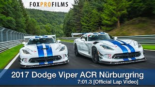 2017 Dodge Viper ACR Nürburgring 7:01.3 [Official Lap Video]