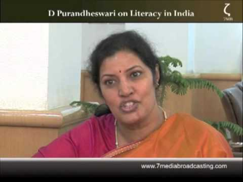 D Purandheswari on Literacy in India 1