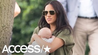 Meghan Markle Gives Baby Archie A Kiss During First Family Outing At Prince Harry's Polo Match
