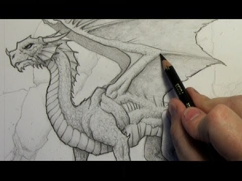 Видео как научиться рисовать дракона