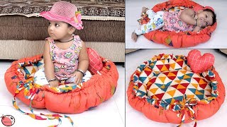 Baby's BED !!! Genius DIY Round Shaped  Baby Bedding Idea From Old Cloths  !! How to...