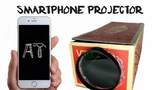 How to make a Smartphone Projector with a Shoe Box | DIY