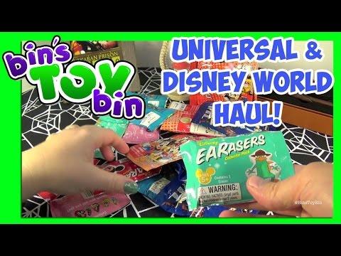 Back From Florida! Universal & Disney World Haul! Grab Bags Opening! by Bin's Toy Bin