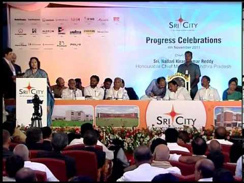 Sri City Progress Celebration Speech by Smt. J. Geetha Reddy, Minister for Major Industries, AP