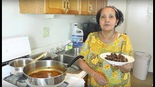 How to Make Kuwanta/Quanta Firfir - Ethiopian Food