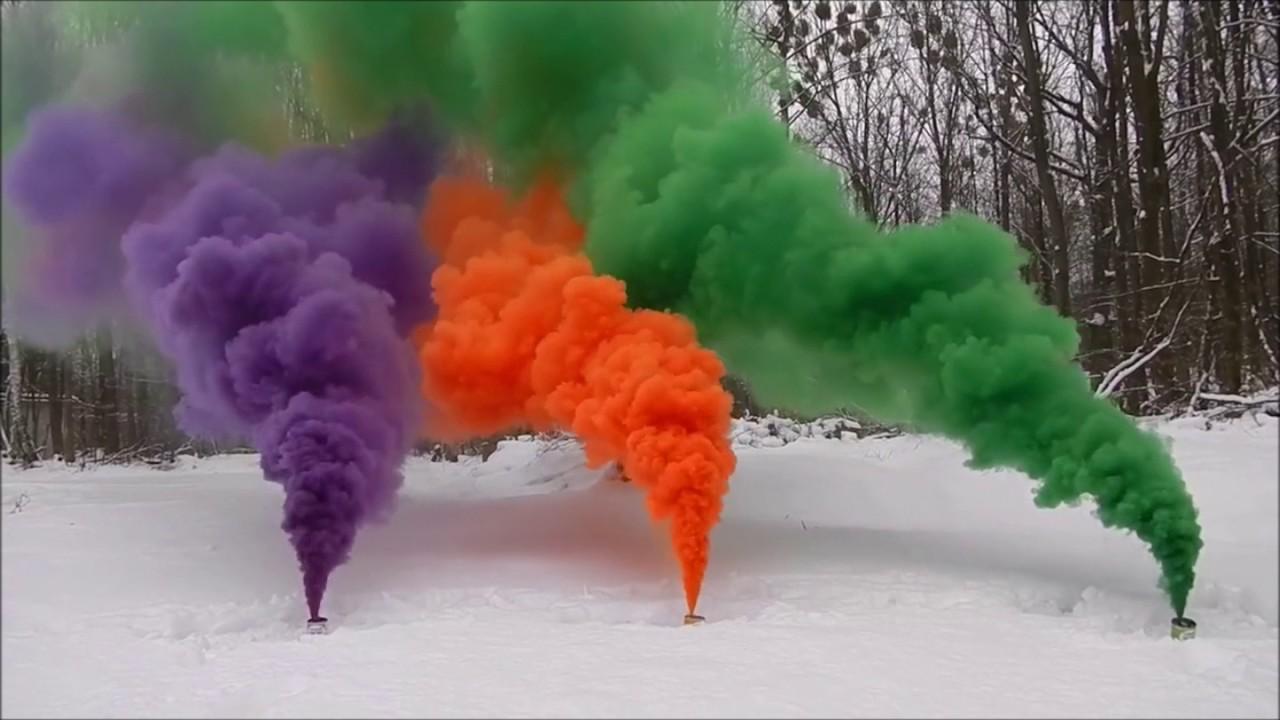 Как сделать цветной дым в домашних 878