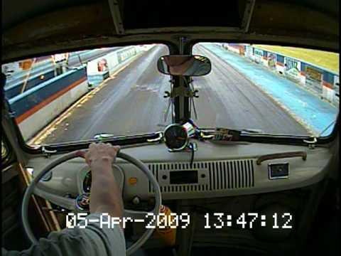VW Camper Split Screen Bus 2276cc on a drag strip