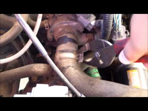DIY How to replace install THERMOSTAT 1993 Honda Accord