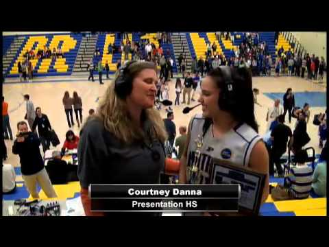 Player of the Game #11 Courtney Danna from Presentation High School