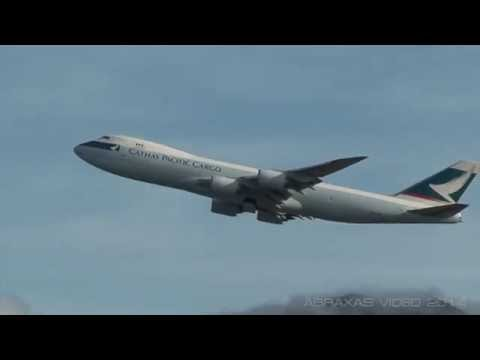 Cathay Pacific Cargo 747-8F [B-LJF] - Departure from Hong Kong - 13 September 2014