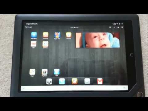 Rooted Nook HD+ Google apps demonstration