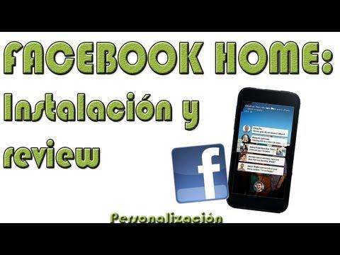 FACEBOOK HOME. tutorial de instalación en cualquier movil y review - Personalización Android - HD