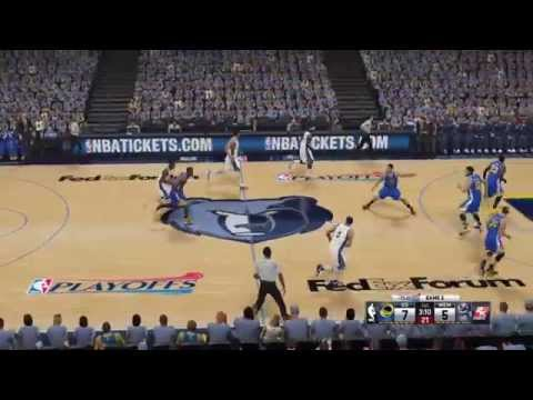 NBA Playoffs 2015 - Golden State Warriors vs Memphis Grizzlies - 1st Qrt - NBA 2K15 PS4 - HD