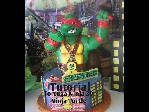 Ninja Turtle Head Cake en 3d Ninja Turtle Cake 3d