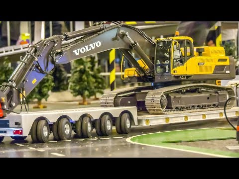 RC Truck HEAVY TRANSPORT of an EXCAVATOR!