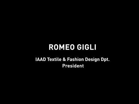 "Romeo Gigli - President of IAAD's ""Textile & Fashion design"" Department"