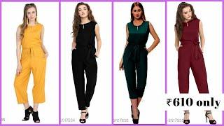 Amishi Elegant Rayon Solid Women's Jumpsuits l Under ₹619 l Phulkari fashion l Fashion hub