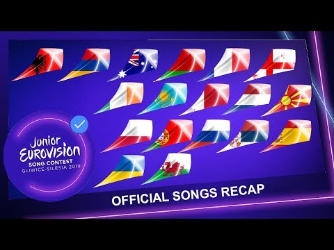 Junior Eurovision 2019 - Official 19 Songs Recap