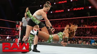 Ronda Rousey vs. Alicia Fox: Raw, Aug. 6, 2018